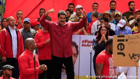 Venezuela President Nicolas Maduro in Caracas (picture-alliance/dpa/P. Miraflores)