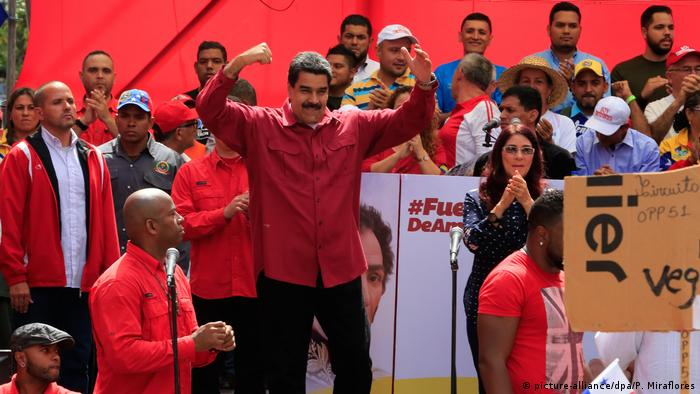 Venezuelan President Maduro at Caracas rally in August this year