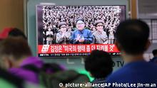 Südkorea Kim Jong Un im TV in Seoul (picture-alliance/AP Photo/Lee Jin-man)