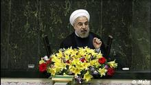 Iran Präsident Ruhani Rede im Parlament