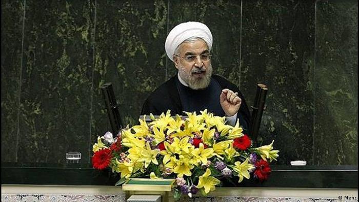 Хасан Роухані під час виступу в іранському парламенті