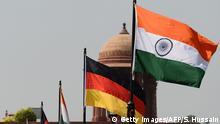 Nationalflaggen von Deutschland und Indien