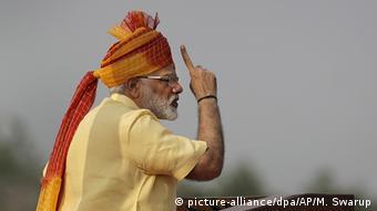 Indien Unabhängigkeitstag Feier Rede Modi