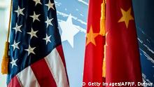 USA China Flaggen Symbobild