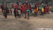 Masai-Familien Tansania Hütten niedergebrannt