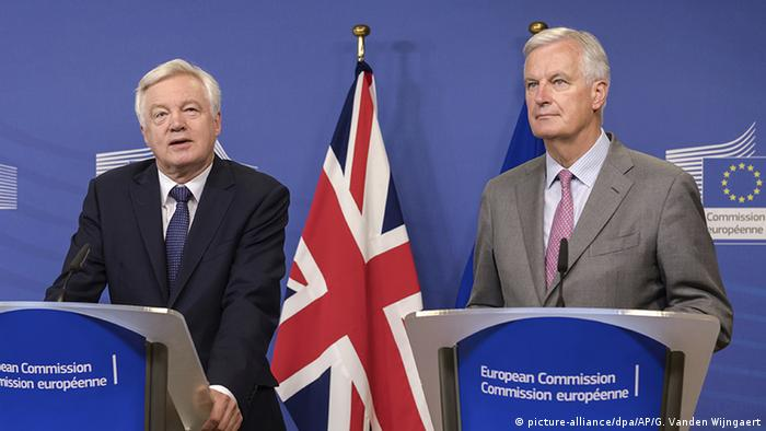 David Davis, Brexit minister has been criticized for ineffectual negotiating skills in his dealings with the EU's Michel Barnier.
