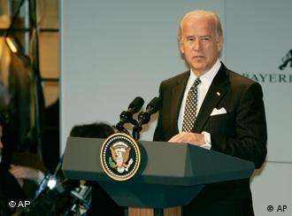 US Vice-President Joe Biden adresses participants of the Munich Conference on Security Policy