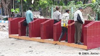 Indien Kalkutta öffentliche Toiletten