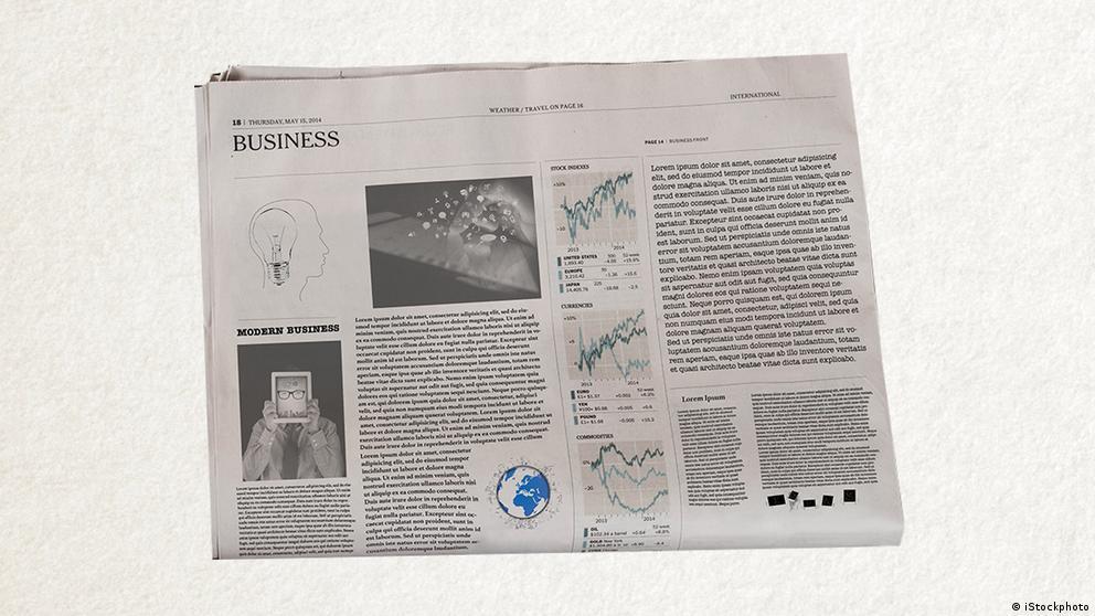 Deutschkurse | Wortschatz | WBS_Foto_Zeitung