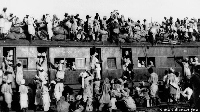 India Pakistan Partition Zug Muslime Flüchtlinge (picture-alliance/AP Photo)