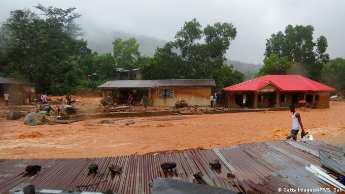 Sierra Leone Überschwemmungen Erdrutsch
