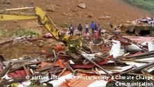 In this image made available by Society 4 Climate Change Communication - Sierra Leone, people survey the damage after mudslides in Regent, east of Freetown, Sierra Leone, Monday Aug. 14, 2017. Mudslides after heavy rains and flooding killed scores of people in Sierra Leone's capital on Monday. (Society 4 Climate Change Communication via AP) |