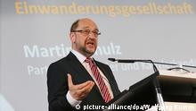 SPD-Kanzlerkandidat Schulz Rede Integrationspolitik (picture-alliance/dpa/Wolfgang Kumm)