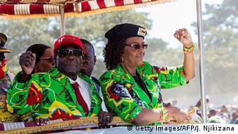 Simbabwe Präsident und Gattin Grace Mugabe Präsidentingattin