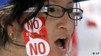 Demonstration in Venezuela gegen Chávez