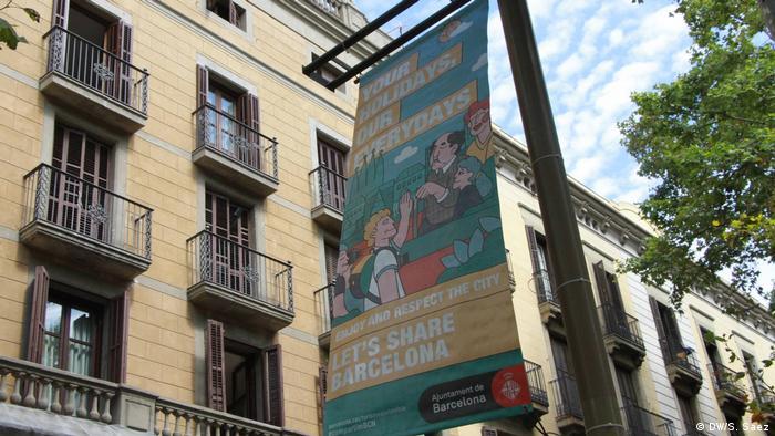 Spanien Barcelonas Tourismus-problem