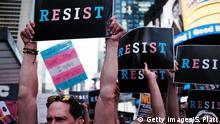 USA Demo wegen LGBT-Verbot in der Armee