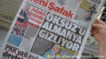 Публикация в турецкой газете Yeni Safak с указанием адреса проживания в Германии Адиля Эксюза