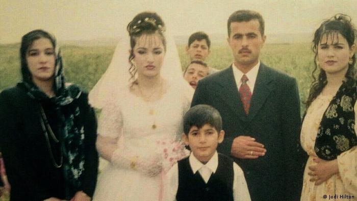 Trifa and Najad on their wedding day in Irbil