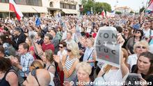 Judicial reform protests in Poland (picture-alliance/dpa/J. A. Nicolas)