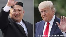 Kim Jong Un und Donald Trump (Foto: picture alliance/AP Photo)