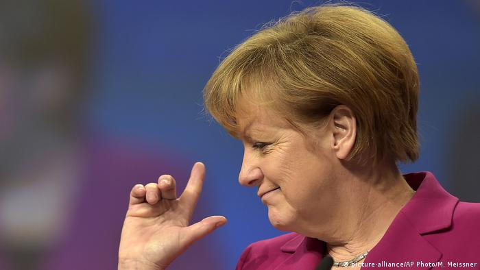 Angela Merkel at the CDU party congress (picture-alliance/AP Photo/M. Meissner)