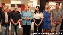 Bundeskanzlerin Angela Merkel mit den You-Tubern