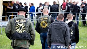 Visitors at a neo-Nazi concert in the German state of Thuringia in 2017 wore the Black Sun symbol (Copyright xMichaelxTrammerx)