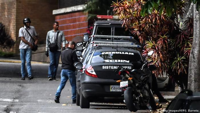 Venezuela Caracas Hausdurchsuchung bei abgesetzer Generalstaatsanwälting Luisa Ortega Diaz (Getty Images/AFP/J. Barreto)