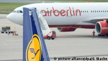 Lufthansa und Air Berlin (picture-alliance/dpa/S. Stache)