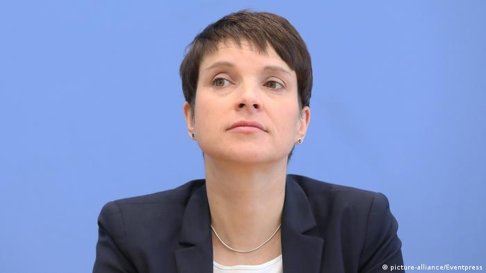 Frauke Petry at a press conference in the Bundestag (picture-alliance/Eventpress)