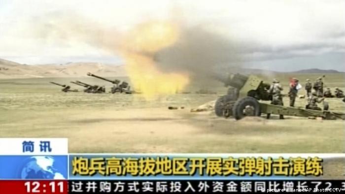 China Indien Grenzkonflikt (picture-alliance/AP Photo/CCTV )