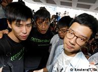 Im Widerstand vereint: Lester Shum, Alex Chow, Nathan Law und Joshua Wong (von links nach rechts)
