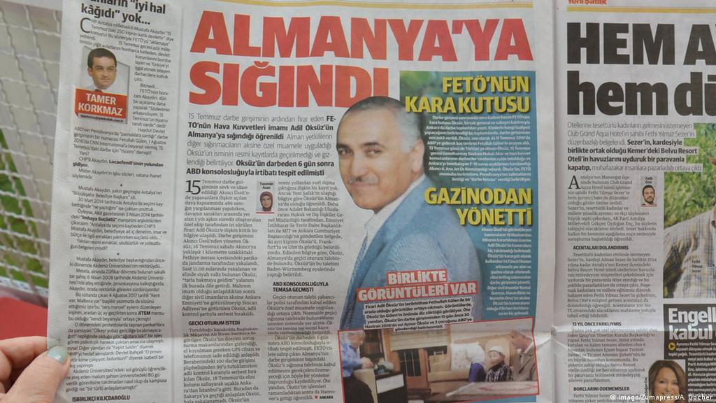 Adil Öksüz'ün Almanya'ya kaçtığına dair haberler Türk basınında yer almıştı