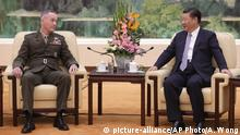 China Peking Joseph Dunford Xi Jinping