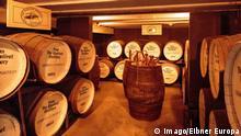 Großbritannien Whiskey Keller in der Destillerie bei Ballindalloch, Schottland
