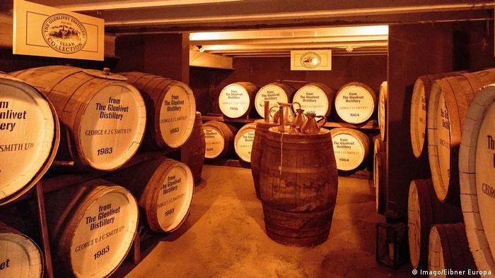 Whiskey cellar in Scotland