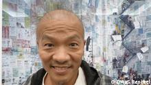 17.08.2017 Museum für Fotografie, Berlin Der Fotokünstler Wang Qingsong vor seinem Werk Konkurrenz (Competition)