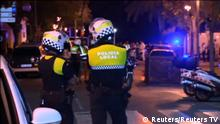18.08.2017+++Cabrils, Spanien+++ Officers investigate at the scene where police had killed four attackers in Cambrils, south of Barcelona, in this still image taken from Reuters video on August 18, 2017. REUTERS TV via REUTERS TPX IMAGES OF THE DAY