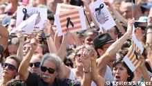 Spanien Schweigeminute nach Terroranschlag in Barcelona