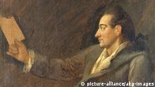 Johann Wolfgang v. Goethe / Gem.v.Kraus Goethe, Johann Wolfgang von Frankfurt a.M. 28.8.1749 - Weimar 22.3. 1832. - Portraet. - Gemaelde, 1775/76, von Georg Melchior Kraus (1737-1806). Oel auf Leinwand, 46,5 x 38,5 cm. Weimar, Stiftung Weimarer Klassik. E: J.W.v.Goethe / Painting by Kraus/ 1775-6 Goethe, Johann Wolfgang von Frankfurt a.M. 28.8.1749 - Weimar 22.3. 1832. - Portrait. - Painting, 1775/76, by Georg Melchior Kraus (1737-1806). Oil on Canvas, 46,5 x 38,5 cm. Weimar, Stiftung Weimarer Klassik.  