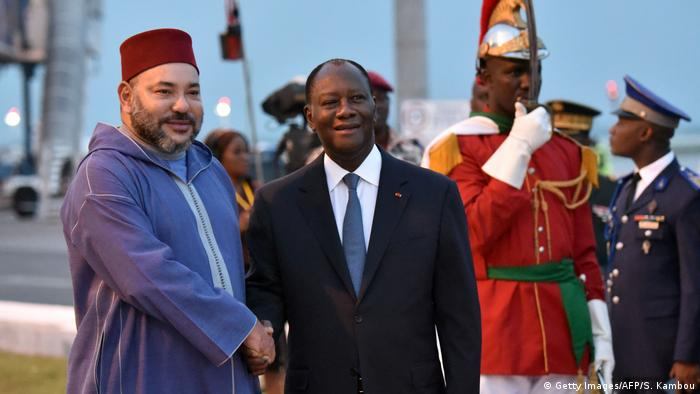 King Mohammed VI of Morocco with Ivorian President Alassane Ouattara (Getty Images/AFP/S. Kambou)