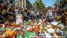 Barcelona Anteilnahme mit Opfern des Anschlags