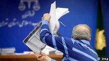 Gerichtsverhandlung und Vorwurf der Korruption im Iran. Stichwörter: Lizenz: Frei, irna