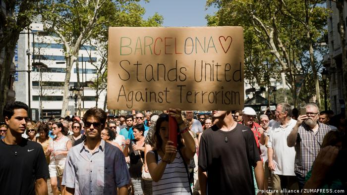 Am Tag nach dem Terroranschlag in Barcelona (picture alliance / ZUMAPRESS.com)