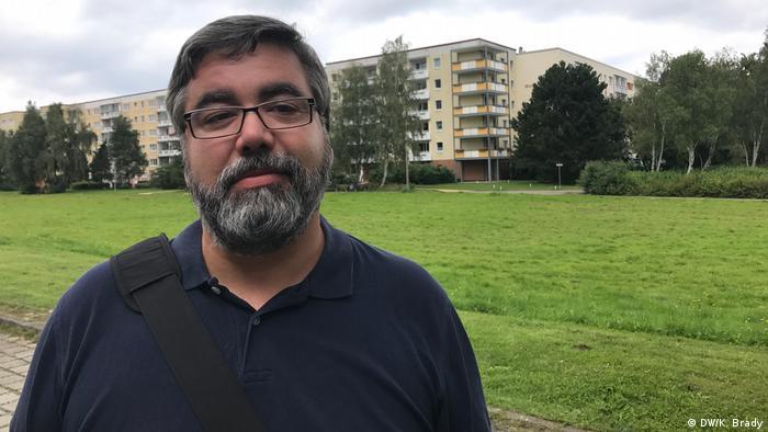 Matthias Siems from anti-right-wing action group Bunt statt Braun