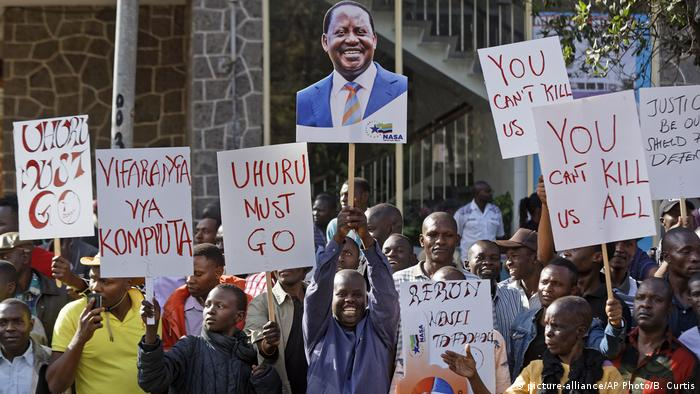 Following the election, supporters of opposition leader Raila Odinga took to the streets to demand Uhuru Kenyatta, dubbed Kenya's president, step down