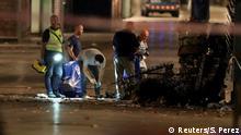 Las Ramblas in Barcelona Polizei und Forensiker untersuchen den Tatort