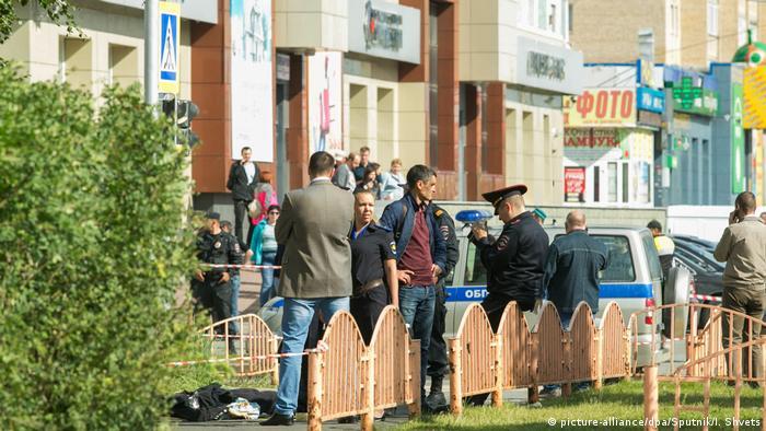 Место нападения в Сургуте
