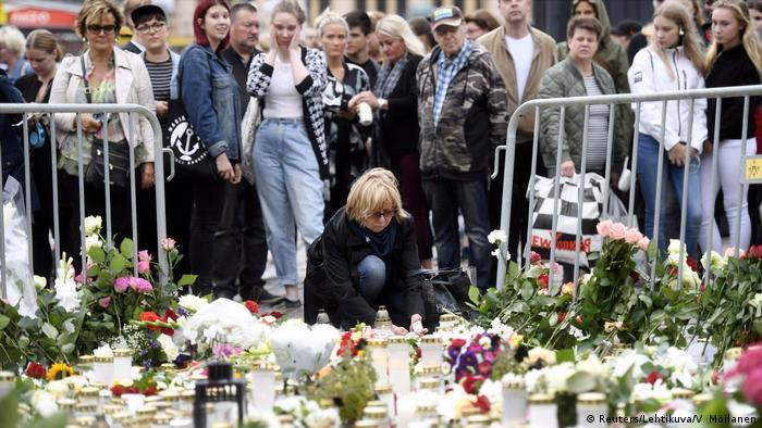 Finnland Nach dem Messerangriff in Turku (Reuters/Lehtikuva/V. Moilanen)